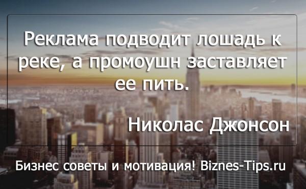 Бизнес цитатник - Николас Джонсон