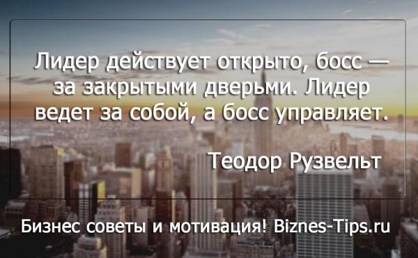 Бизнес цитатник - Теодор Рузвельт